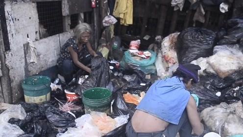 菲律宾的贫民窟的人生活有多艰难?依靠别人丢弃的食物为生