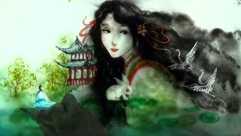 水中墨彩中秋节