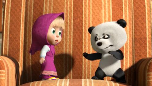 小熊猫和小女孩成为好朋友,俩人处处争执,熊爸爸看见很开心!