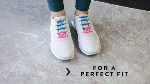 懒人运动鞋带,可以不用学花式系鞋带啦!
