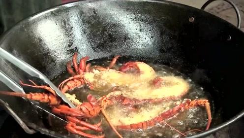 龙虾最好吃的做法,美式油炸大龙虾肉卷,开胃又营养