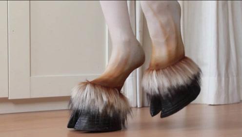 日本奇葩马蹄高跟鞋,受到当地女性疯狂抢购,网友:迷之时尚!