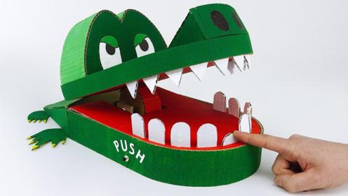 手工达人自制超大的鳄鱼玩具,当美女被夹那一刻,吓了一跳!
