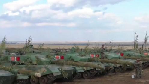 探秘中部-2019中方营地,96A坦克整齐列阵,指挥所曝光