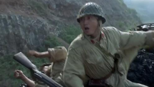 没想到八路抢夺日军火车,日军表演各种花式死法,真是太逗了