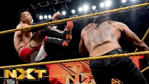 NXT第525期 中国之星王彦博对阵暗黑强敌Priest