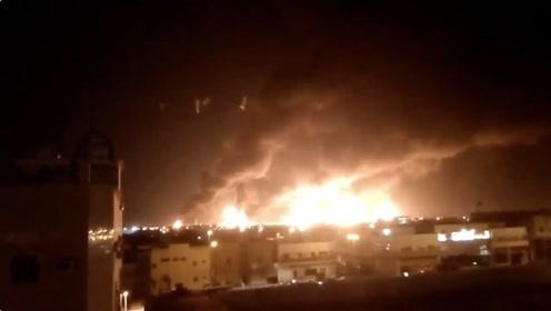 沙特阿拉伯两处油田遭无人机袭击 大火照亮半个城市