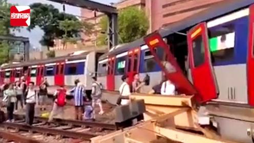 突发!香港地铁发生列车出轨事故,车厢断裂成两截