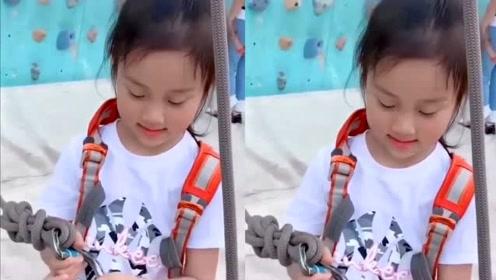 李小璐中秋带女儿玩攀岩 6岁甜馨越来越像贾乃亮