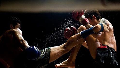 泰拳手擂台对决,狂用转身大招,拳腿肘,全能KO对手!