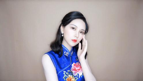 30年代阮玲玉复古仿妆 配上中式旗袍温婉又妩媚