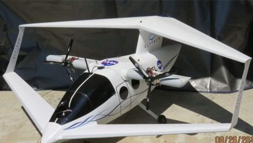 怪异的飞机,机翼像个呼啦圈,居然想要与高铁争夺客源