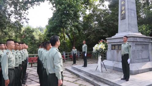 驻港部队也去了!驻港官兵瞻仰乌蛟腾烈士纪念园 缅怀先辈
