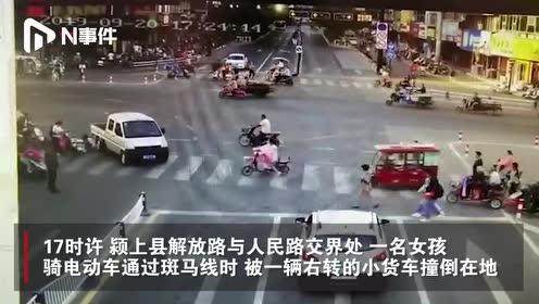 安徽阜阳一女孩被压车底,多名路人合力抬车,12秒救出伤者
