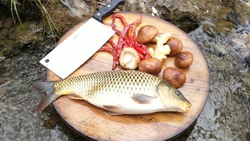 在农村,这样吃鱼还是头一次见,隔着屏幕看饿了