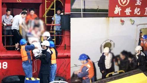 2名海上船员接连受重伤,救援人员风浪中紧急转移