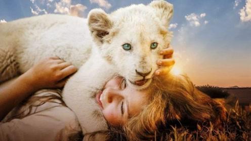 《白狮奇缘》混剪:美丽女孩最好的朋友居然是这个小家伙