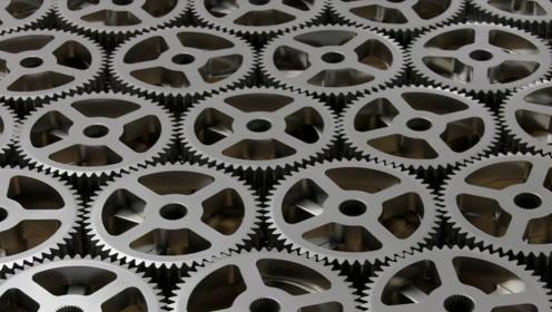 听过不一定见过,粉末冶金工艺,用粉末把齿轮压出来!