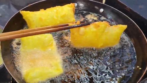 """大姐街边卖""""炸榴莲"""",5块1份,食客:又臭又香!"""