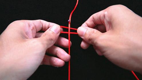 手工编绳:雀头结详细教程,常用于手链主体和扣眼