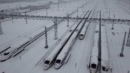 下暴雪时,高铁是怎么运行的?看完可以放心回家了!