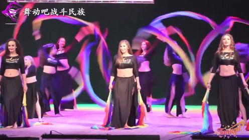 """画面太美了!俄罗斯母女共同表演""""扇子舞"""",精彩"""