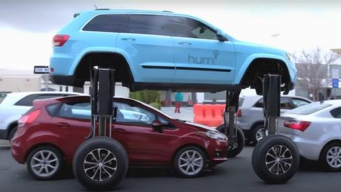 """这车有""""大长腿"""",一遇堵车就抬高2米,跨越前车扬长而去!"""