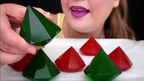 精美的果冻钻石制作很简单,绿钻和红钻,哪种更喜欢?