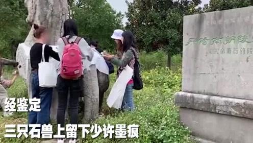 江苏丹阳1500年南朝石刻遭盗拓,涉事大学老师道歉