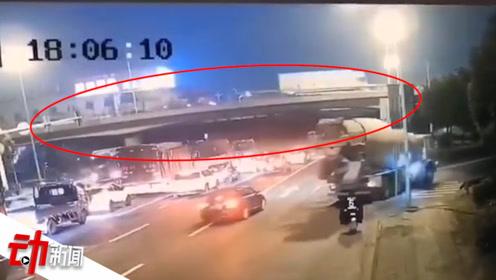 无锡高架坍塌或为货车超载所致 已有2人送医 动画还原侧翻始末