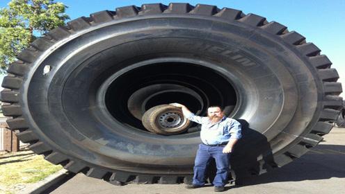 世界最牛换轮胎,几米的高度,真心好心疼小伙