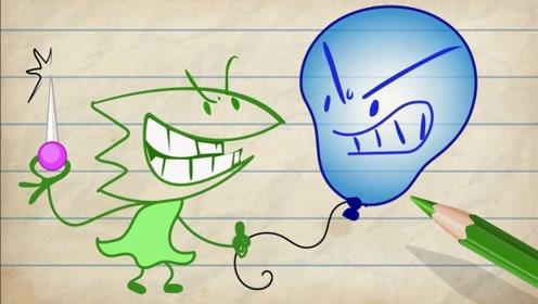 小男孩的灵魂躲进气球里,小屁孩竟用针扎气球,灵魂大惊失色!