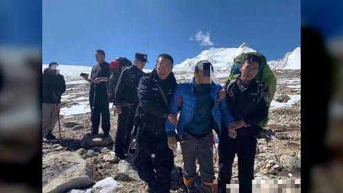 三游客被困希夏邦马峰海拔六千米山腰,西藏警方夜间徒步救出