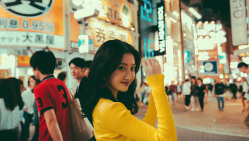 景甜分手后日渐丰腴 日本街头拍照吸引路人
