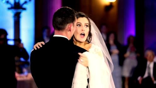 伴奏突然停止以为不吉利,新娘瞄见原唱本尊时,瞬间吓跑乐哭了!