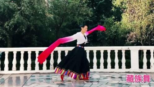 青岛高华广场舞《浪拉山情》水袖藏族舞蹈教学
