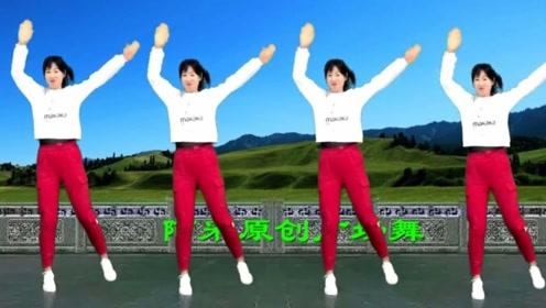 阿采广场舞《三角债》简单好跳,32步教学