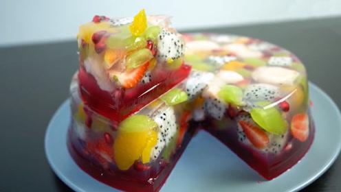 """这才叫真正的""""水果蛋糕"""", 一刀下去,物超所值!"""