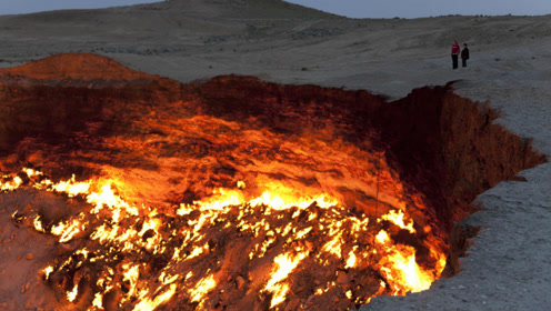 最神奇的深坑,坑中大火竟燃烧了46年,网友:这啥原理
