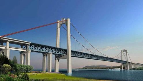 中国打造全球最长斜拉桥,上通汽车下通高铁,横跨整个长江