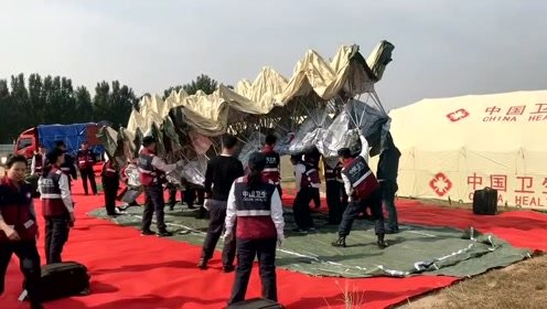 应急救援帐篷一秒就成型,收的时候有你们好受的