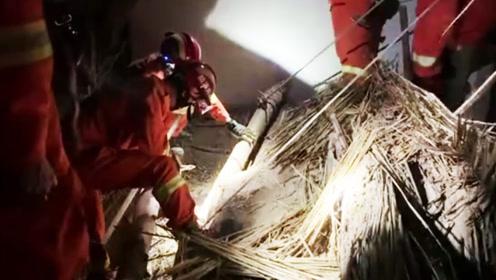 山东德州一民房半夜突然坍塌1人被埋 12岁男孩机智救父