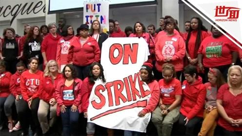 芝加哥教师大罢工要求涨薪36万学生没课上 市长:真的没钱了