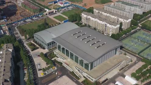 """飞""""阅""""军运会——武汉城市职业学院体育馆"""