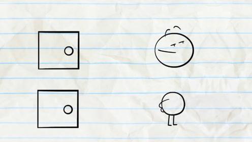 铅笔人意外走进形状不同的门,走出后秒变型,最后结局太意外