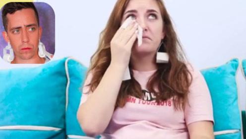 纸巾耳环 爱哭的姐妹可以随时安排上了