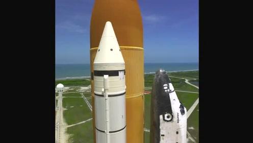 近距离慢动作看美国航天飞机的发射
