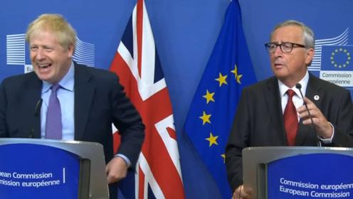 约翰逊说完后记者准备开溜 欧盟主席一脸不爽大喊三声:嘿嘿嘿!