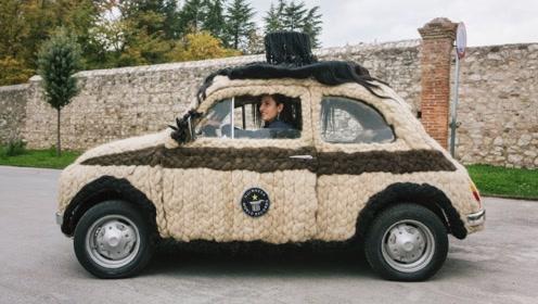 最保暖的汽车?美女花费62万打造布满头发的座驾,人傻钱多?