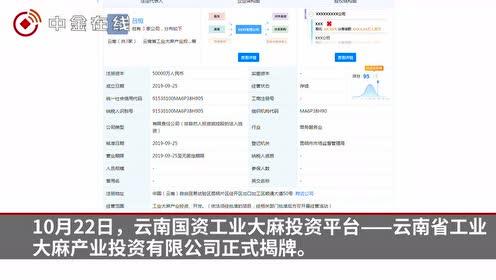 云南国资工业大麻投资平台成立
